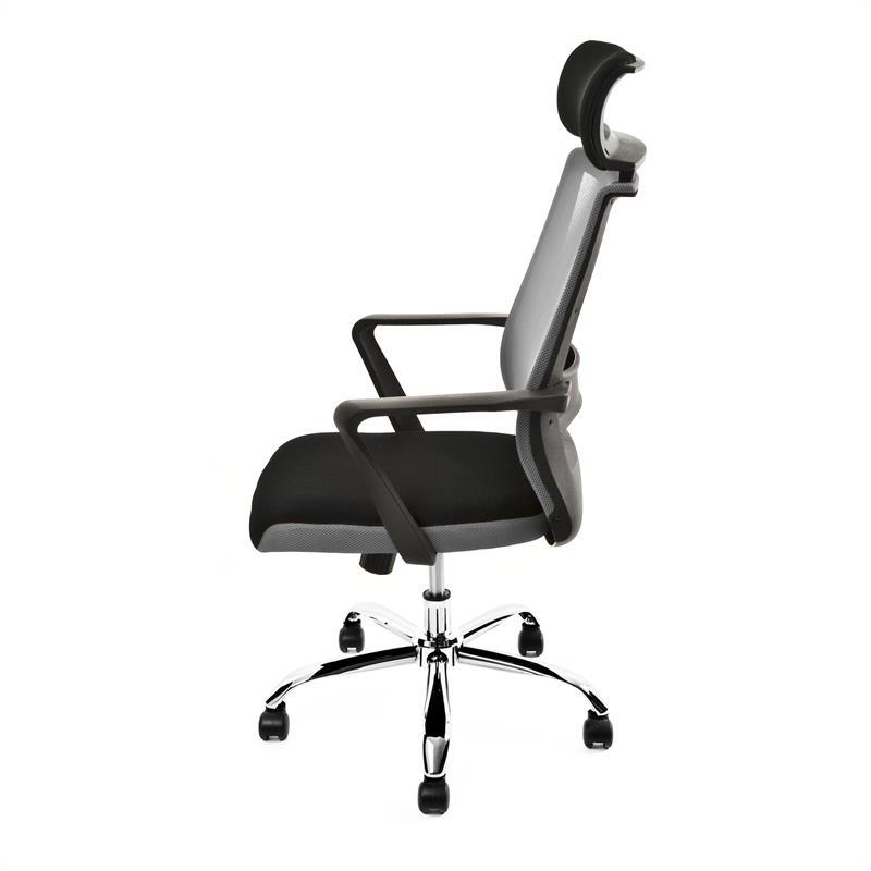 Schreibtischstuhl Design Bürostuhl Drehstuhl PC Stuhl Kopfstütze Mesh Netz