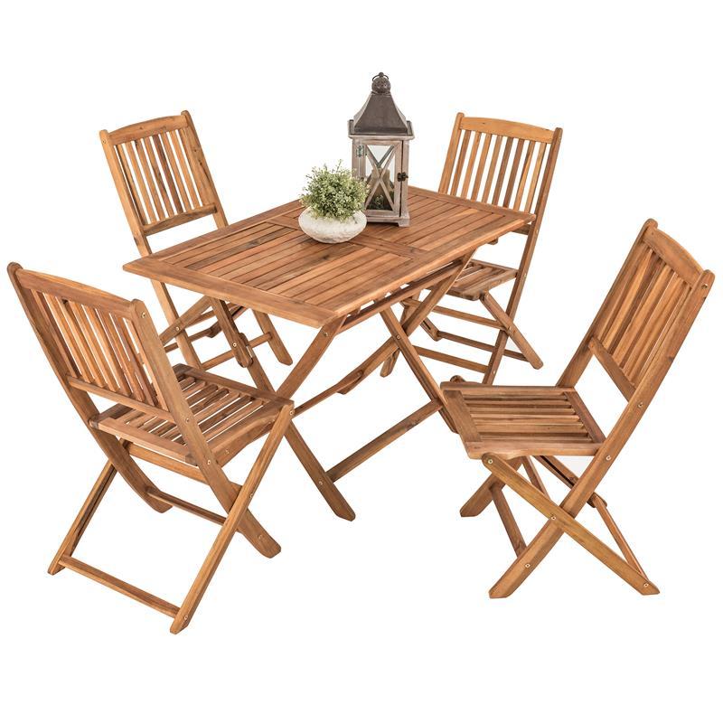Tisch Und Stühle Für Balkon.Details Zu Gartenmöbel Set Holz Essgruppe Terrasse Akazie Klapp Tisch Stühle Balkon 5tlg