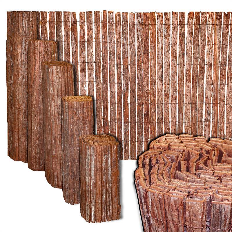 Sichtschutzmatte Rinde Sichtschutz Baumrindenmatte Rindenzaun Sichtschutzwand