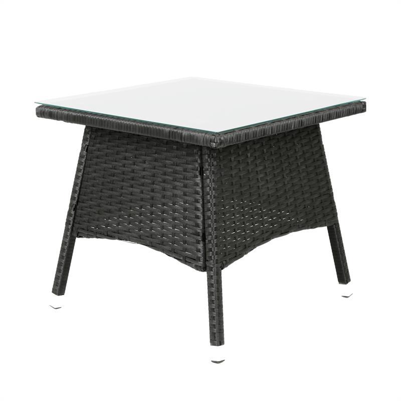 polyrattan tisch schwarz 50x50cm beistelltisch teetisch garten gartenm bel ebay