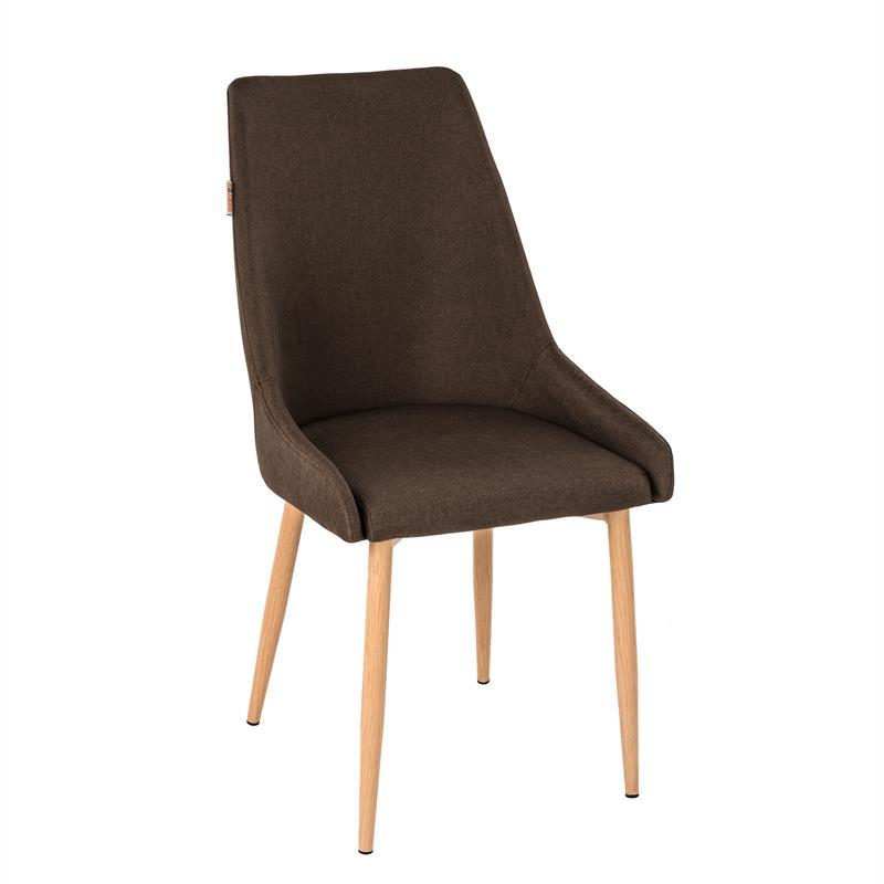 esszimmerst hle stoffbezug braun k chenst hle esstisch st hle esszimmer 6er ebay. Black Bedroom Furniture Sets. Home Design Ideas