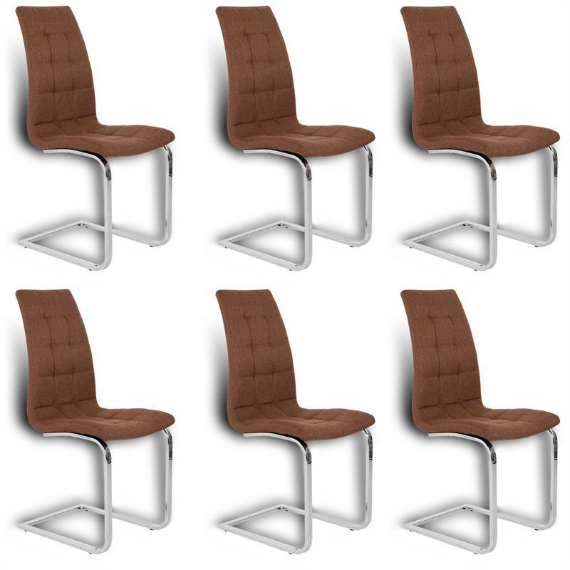 Freischwinger Esszimmerstühle 6er Set Stühle Esszimmer