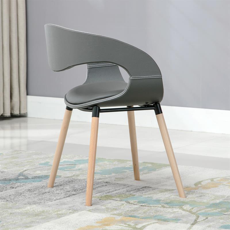 st hle esszimmer esszimmerst hle design k chenst hle kunstleder grau 6er set ebay. Black Bedroom Furniture Sets. Home Design Ideas