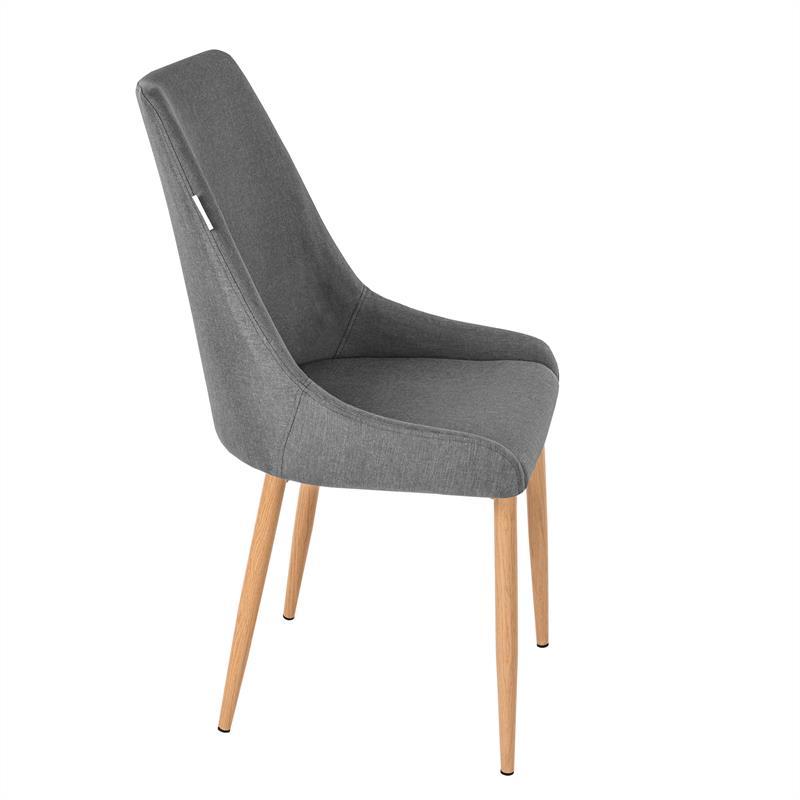 esszimmerst hle stoffbezug grau k chenst hle retro st hle esszimmer 6er ebay. Black Bedroom Furniture Sets. Home Design Ideas