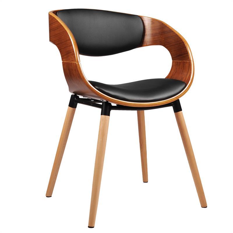 Retro Stuhl Esszimmerstuhl Designer Küchenstuhl Kunstleder
