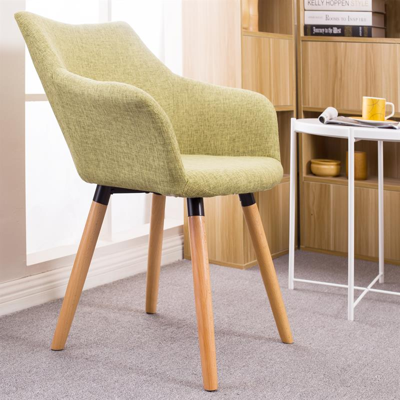 retro st hle esszimmerst hle tomke stoffbezug armlehnen k chenst hle gr n 2er ebay. Black Bedroom Furniture Sets. Home Design Ideas