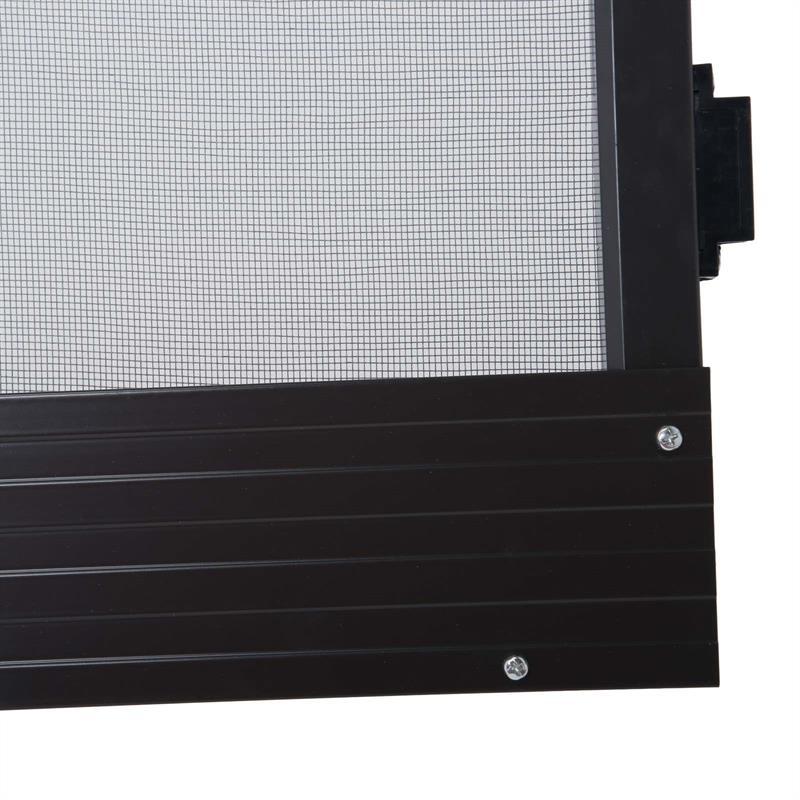 fliegengitter t r 95x210 cm braun insektenschutz alurahmen fliegenschutz 4251246904621 ebay. Black Bedroom Furniture Sets. Home Design Ideas