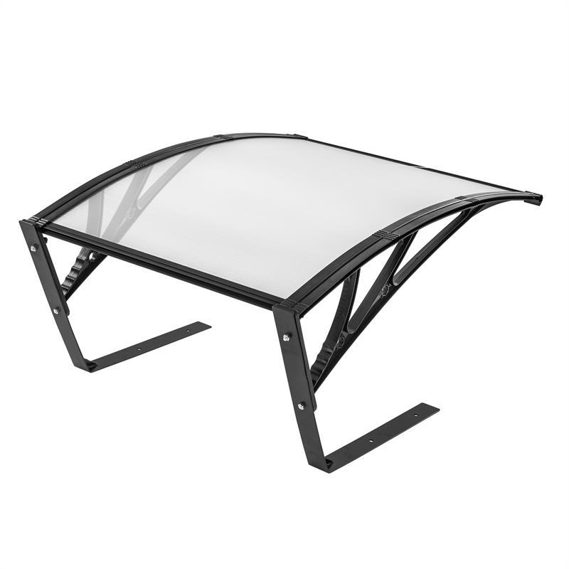 Mähroboter Garage schwarz 81 x 103 x 52 cm Garagendach für Rasenroboter Überdach
