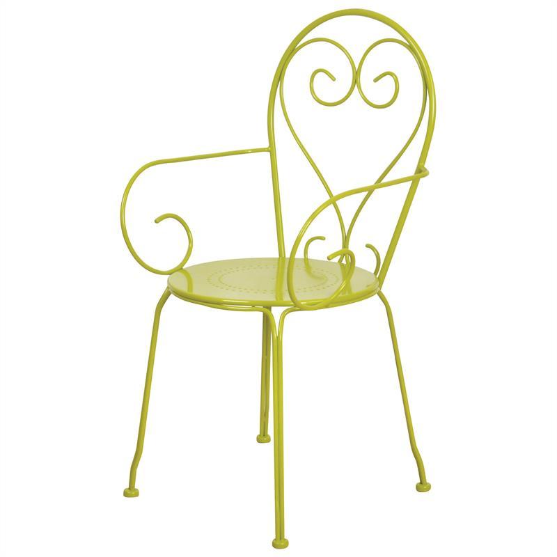 2x Gartenstuhl grün grau Esschert Design Metall Gartenstühle Set ...