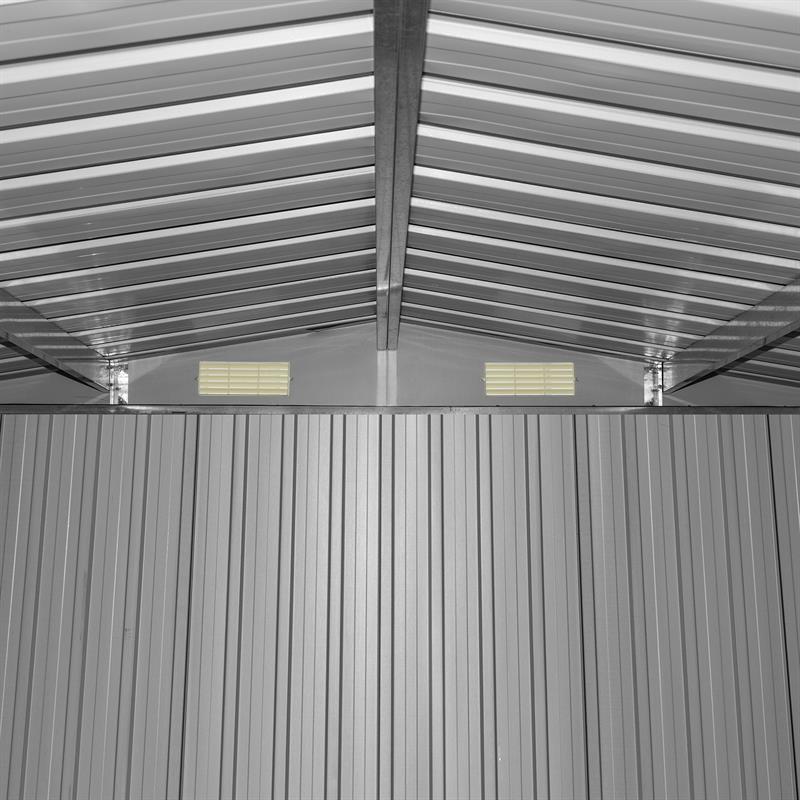 Ger teschuppen metall ger tehaus gartenschuppen satteldach gartenhaus anthrazit ebay - Gartenschuppen metall ...