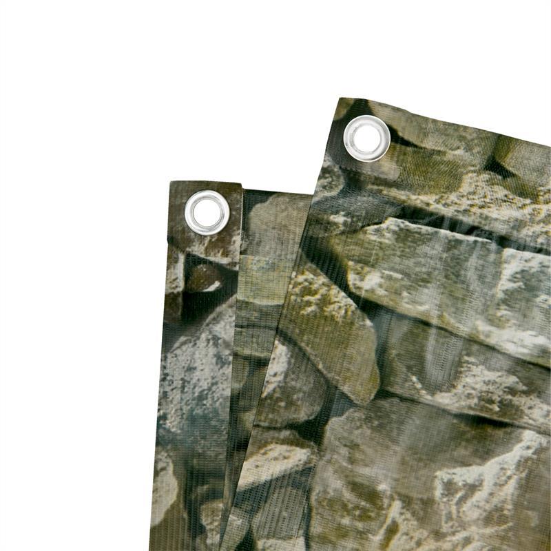 Pvc Balkon Sichtschutz Stein Optik 0 75 X 6 M Balkonbespannung