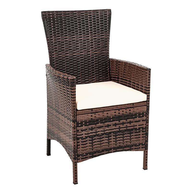 rattan sitzgarnitur braun grau polyrattan gartenm bel set essgruppe sitzgruppe ebay. Black Bedroom Furniture Sets. Home Design Ideas