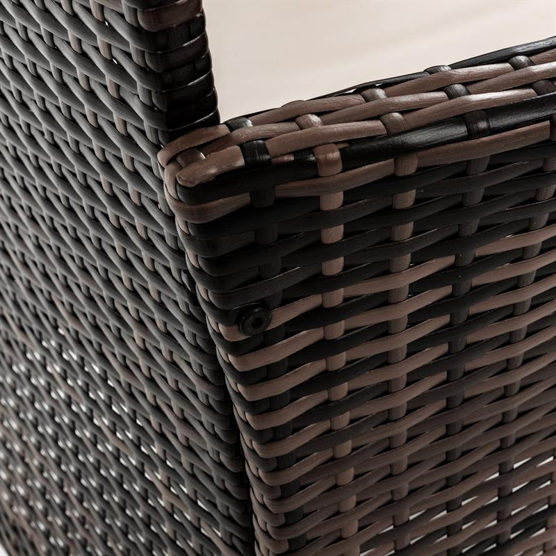 polyrattan gartenm bel set braun essgruppe garnitur. Black Bedroom Furniture Sets. Home Design Ideas