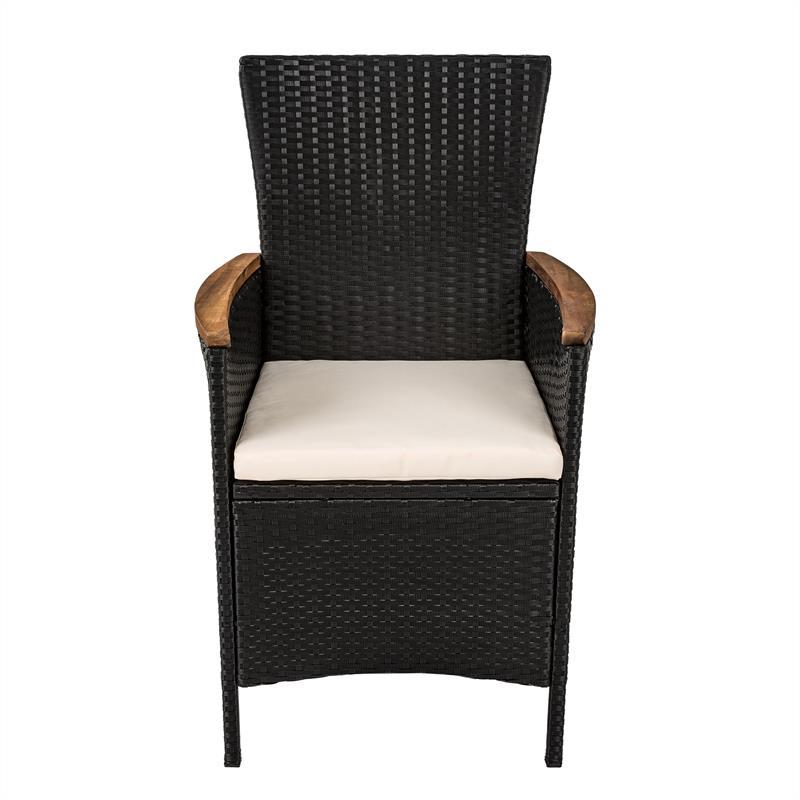 polyrattan sitzgruppe rattan essgruppe gartenm bel akazienholz schwarz grau set ebay. Black Bedroom Furniture Sets. Home Design Ideas