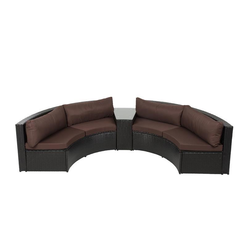 B Ware Möbel : b ware garten lounge rund rattan m bel sitzgruppe terrasse ~ Watch28wear.com Haus und Dekorationen