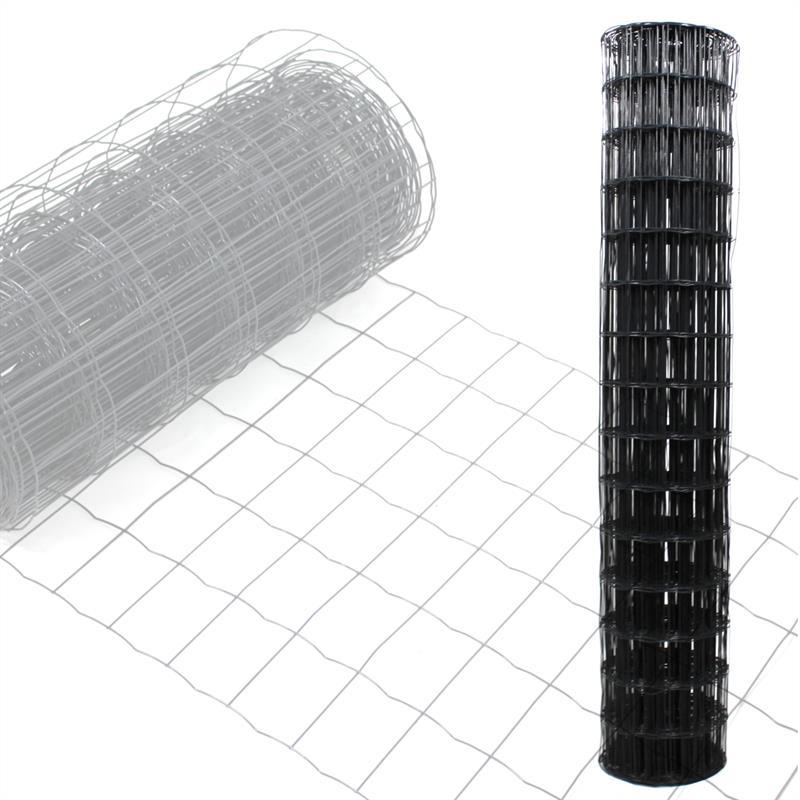 gartenzaun maschendraht zaun gitterzaun ral7016 schwei gitter wildzaun 2x10m ebay. Black Bedroom Furniture Sets. Home Design Ideas