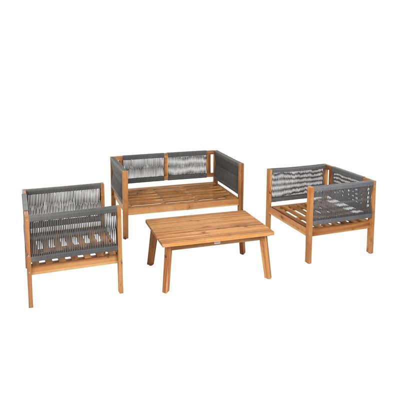 B-Ware Sitzgruppe Gartenmöbel Akazie Lounge Set ...