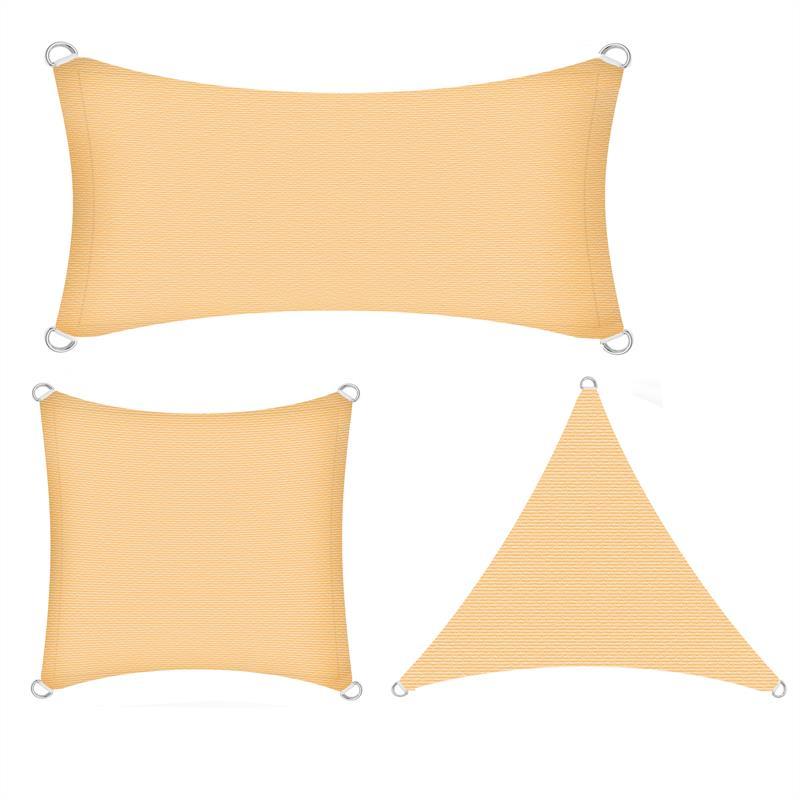 Sonnenschutzsegel-Schattenspender-Sonnensegel-Sonnenschutz-UV-Schutz-HDPE miniature 12