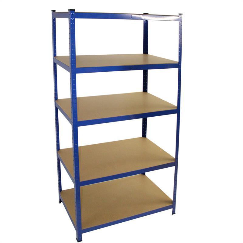 Steckregal-875-kg-Werkstattregal-Kellerregal-Schwerlastregal-Regal-verzinkt-blau