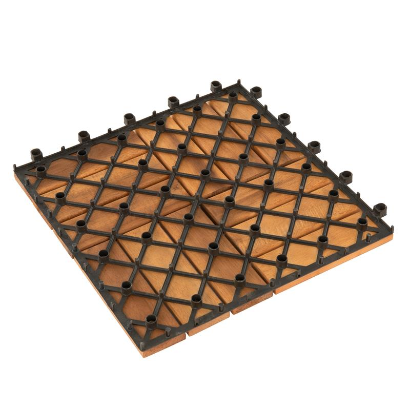 Terrassenfliesen Klickfliesen Holzfliesen 30x30cm Mosaik