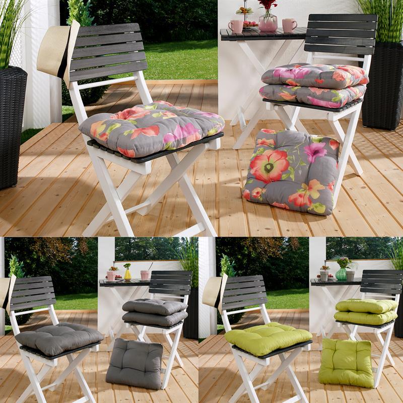 stuhlkissen 40x40x8 cm sitzkissen stuhlpolster kissen stuhlauflage ebay. Black Bedroom Furniture Sets. Home Design Ideas